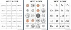 Counting Coconuts: Money Match Activity