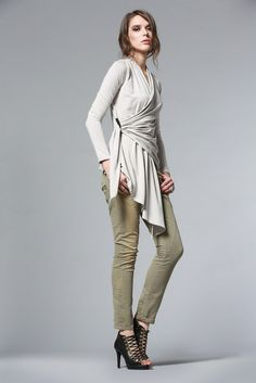 Drape Cardigan: $165 I'm wearing this with everything!