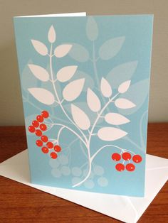 Hedgerow A6 Greeting Card - Rowanberry £2.20 by Alison Bick