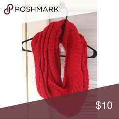 Red with golden thread infinity scarf It's also warm too! Accessories Scarves & Wraps