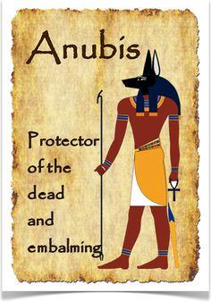 Анубис  божество с головой собаки и телом человека
