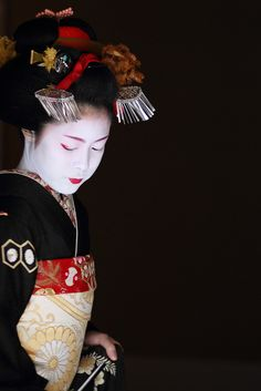 The Maiko. They are more sensual than any playboy center model, and yet they wear the most conservative clothes. A study in contrasts.
