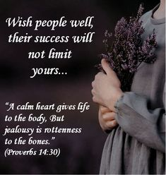 Tv Preachers, Comforting Bible Verses, Proverbs 14, Jealousy, Gods Love, Quote Of The Day, Restoration, Spirituality, Wisdom