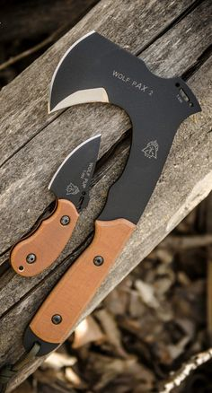 Tops Knives Wolf Pax 2 Axe and Fixed Knife Blade Combo WPAX02