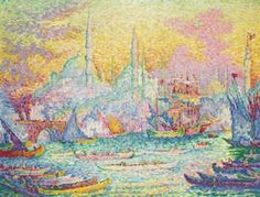 "sick painting From Christie's Impressionist/Modern And Surrealism Auction: Paul Signac ""La Corne d'Or, Constantinople,"" 1907 Georges Seurat, Paul Signac, Post Impressionism, Art Moderne, Claude Monet, Les Oeuvres, Art Museum, Oil On Canvas, Modern Art"