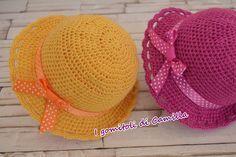 cappellino da bimba semplicissimo a uncinetto