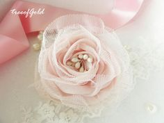 Millinery Flower Pink Gauze Flower Rose in Pink Color for Bridal Supplies, Hats, Corsages and Jewlery Making - 2 pcs of 8cm or 3.15 inch. $5.50, via Etsy.
