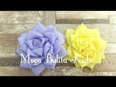 Flor em camada na fita de gorgurão de 22mm n°5 - YouTube