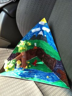 My forth grade diorama of wv. I got an a on the project. :)