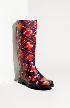 Burberry Print Rain Boot available at #Nordstrom