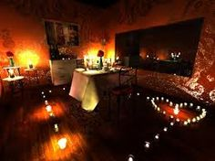 candle lit dinner for two