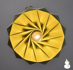 Origami lamp seen from underneath