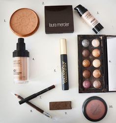 Maskcara's top 10 makeup products. She does several tutorials using just these products and they're not all super pricey.