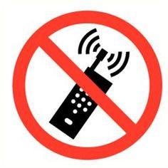#Pictogrammen / #ISO 7010 / #Verbodspictogrammen / GSM verboden