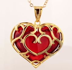 This is a pretty necklace. I like the gold part. I could wear it with an awesome Victorian gown.  Skyward Sword Heart Necklace.