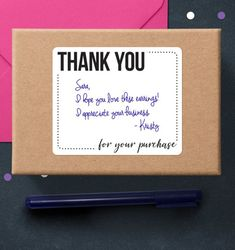 Thank You For Your Purchase Sticky Printable Thank You Notes, Package Stickers, Business Thank You Stickers, Poshmark Thank You Labels Printable Thank You Notes, Thank You Labels, Thank You Stickers, Thank You Gifts, Business Thank You Cards, Thank You For Purchasing, Sticker Paper, Your Cards, Packaging Ideas