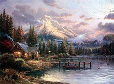 I like Thomas Kinkade paintings