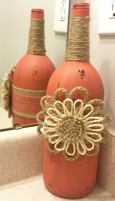 A personal favorite from my Etsy shop https://www.etsy.com/listing/293727001/large-distressed-wine-bottle-with-burlap