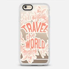Travel the World- Frosty - - New Standard iPhone 6 Case in Clear and Clear by Famenxt | @casetify