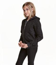Hooded Jacket   Black melange   Kids   H&M US
