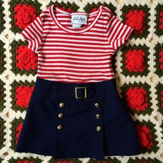 Vintage Sailor Dress Toddlers 2/2T by lishyloo on Etsy