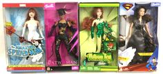 Lot 3396: (4) Barbie Super Hero Collector Dolls In Boxes Apr 2, 2016