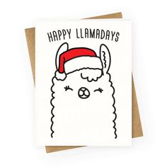 holiday funny Happy Llamadays - Get your llamas re - holiday Cute Christmas Cards, Christmas Doodles, Christmas Drawing, Xmas Cards, Diy Christmas Gifts, Christmas Humor, Holiday Cards, Greeting Cards, Father Christmas