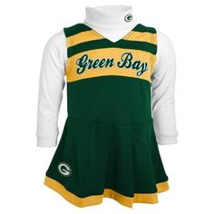 Packers Preschool Green Bay Cheerleader Outfit Infant Girls 8ad2af10a