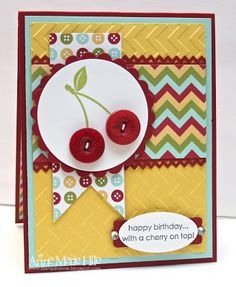 Stampin' Up! Birthday by Anne Marie Hile at Stampin' Anne: Cherry Button Buddies