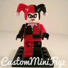 Custom Harley Quinn Minifigure Lego Size Super by CustumMiniFigz
