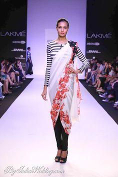 Archana Kochhar saree over pants