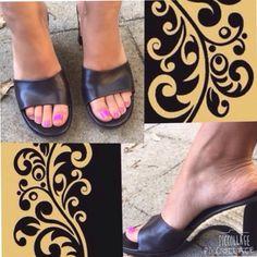 Black slip ons Black slip on wedges Shoes Wedges