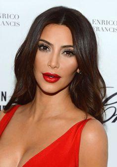 Week 4 kim k makeup love her red lips