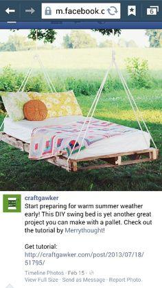 Outdoor pallet hamack