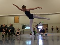 One of our upper level students in the studio for our Summer Intensive.  ccdance.org