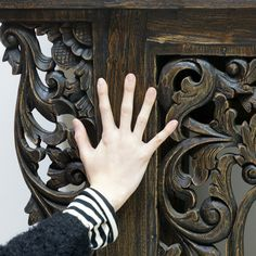 begin | Rakuten Global Market: Asian furniture carved wide console table 150-1 dw Asian furniture console antique storage furniture teak old teak wood trees