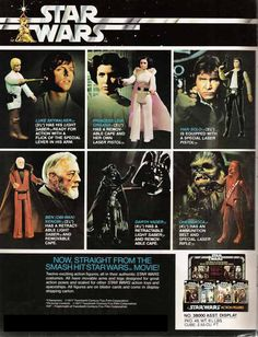"Vintage ""Star Wars"" action figures advertisement!"