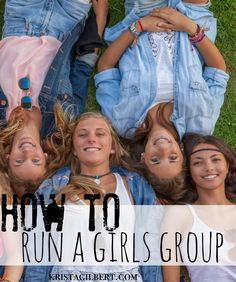 to Run a Girls Group: The Nuts & Bolts How to run a teen or tween girls group.How to run a teen or tween girls group. Boys And Girls Club, High School Girls, Girls Camp, Tween Girls, Ice Girls, Girls Night, Youth Group Activities, Activities For Girls, Youth Groups