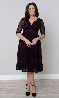 Always time for the perfect Plus Size cocktail party dress when its black lace!