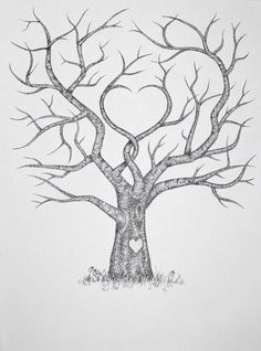 Ideas For Family Tree Drawing Hand Drawn Wedding Guest Book Family Tree Drawing, Family Tree Wall, Family Trees, Family Tree Print, Family Tree Paintings, Family Tree Crafts, Diy Family Tree Project, Family Tree Images, Family Painting