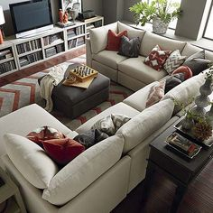 U-Shaped Sectional, but a darker color!!! #bassettfurniture