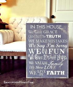 Smallwoods - WOOD SIGNBOARD - WE DO, $45.00 (http://www.smallwoodhome.com/products/wood-signboard-we-do.html/)