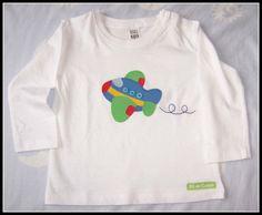 "Camiseta ""Avión"" / Fil de colors - Artesanio"