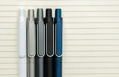 Manuscript Handwriting Pen Blue Black Mix Ink Ergonomic Grip School 4-8 PENS