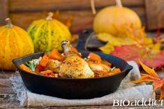 Recette bio : Tajine d'automne : poulet, potiron & pruneaux