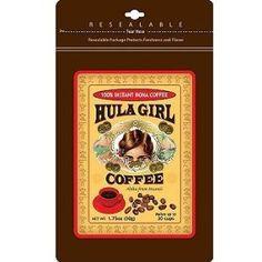 it's seriously good! Hawaiian Coffee, Hawaiian Luau, Vintage Hawaiian, Hawaiian Islands, Pride Of America Cruise, Kona Coffee, Coffee Girl, Hula Girl, Freeze Drying
