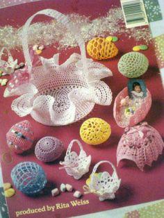 Thread-Crochet-Easter-Eggs-Basket-Nut-Cups-Book-Booklet