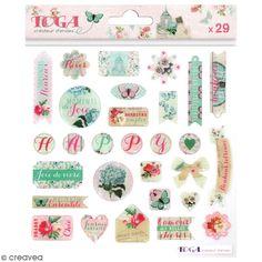 Compra nuestros productos a precios mini Pegatinas 3D Toga Flores y mariposas - 29 uds - Entrega rápida, gratuita a partir de 89 € !
