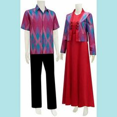Batik Premio Guerra Batik Muslim, Kebaya, Ankara, Cosplay Costumes, Duster Coat, Couples, Model, Jackets, Tops