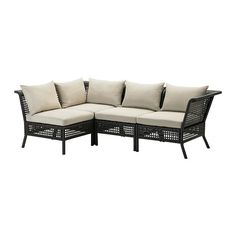 KUNGSHOLMEN / HÅLLÖ Rohová pohovka 3+1, venk. IKEA Ikea Outdoor, Outdoor Sofa, Outdoor Lounge Furniture, Outdoor Cushions, Outdoor Spaces, Conservatory Furniture, White Cushions, At Home Furniture Store, Modern Home Furniture